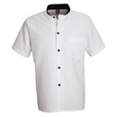 Chef Designs SP04WH Black Trim Cook Shirt - White