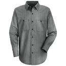 Red Kap Long Sleeve Industrial Stripe Work Shirt - Sp14