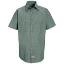 Red Kap Short Sleeve Microcheck Uniform Shirt - Sp20