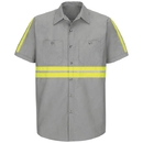 Red Kap SP24-1 Enhanced Visibility Industrial Work Shirt