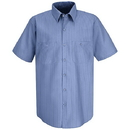 Red Kap Short Sleeve Durastripe Work Shirt - Sp24