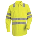 Red Kap SS14-2 Long Sleeve Hi-Visibility Work Shirt: Class 3 Level 2