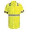 Red Kap SS24-3 Short Sleeve Hi-Visibility Work Shirt: Class 2 Level 2