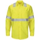 Red Kap SY14HV Long Sleeve Hi-Visibility Ripstop Work Shirt: Class 2 Level 2 - SY14