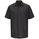 Red Kap SY20CH Short Sleeve Solid Crew Shirt, Charcoal