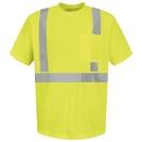 Red Kap SYK6HV Short Sleeve Hi-Visibility T-Shirt - Lime/Yellow