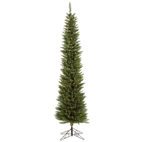 "Vickerman A103681LED 8.5' x 28"" Durham Pole 400LED WmWht, Christmas Tree, Price/each"