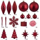 Vickerman N512503 125Pc Red Ornament Set