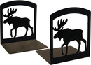 Village Wrought Iron BE-19 Moose - Book Ends