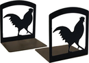 Village Wrought Iron BE-1 Rooster - Book Ends