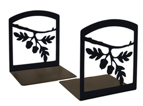 Village Wrought Iron BE-93 Acorn - Book Ends, Price/Pair