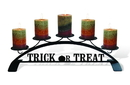 Village Wrought Iron C-PLB-264 Trick Or Treat - Table Top Pillar Candle Holder