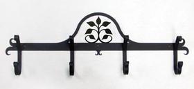 Village Wrought Iron CB-109 Leaf Fan - Coat Bar, Price/Each