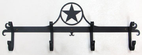 Village Wrought Iron CB-144 Western Star - Coat Bar, Price/Each