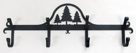 Village Wrought Iron CB-20 Pine Trees - Coat Bar, Price/Each