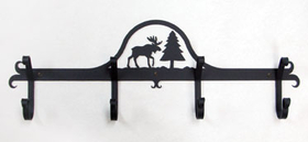 Village Wrought Iron CB-22 Moose & Pine, Coat Bar, Price/Each