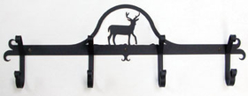 Village Wrought Iron CB-3 Deer, Coat Bar, Price/Each