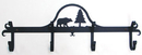 Village Wrought Iron CB-83 Bear & Pine - Coat Bar