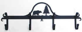 Village Wrought Iron CB-83 Bear & Pine, Coat Bar, Price/Each