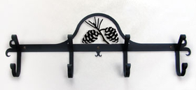 Village Wrought Iron CB-89 Pinecone, Coat Bar, Price/Each