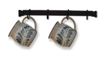 Village Wrought Iron CR-16 Cup Rack 16 Long, Price/Each