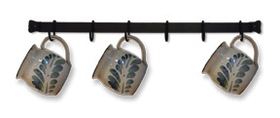 Village Wrought Iron CR-24 Cup Rack 24 Long, Price/Each