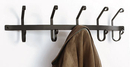 Village Wrought Iron CT-WH-5 Coat Bar with 5 hooks