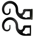 Village Wrought Iron CUR-BRAC-DT-1 Curtain Brackets For Two or Three 1 Inch Rods