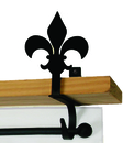 Village Wrought Iron CUR-SB-121 Fleur-de-lis - Curtain Shelf Brackets