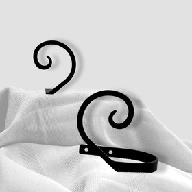 Village Wrought Iron CUR-TB-103 Scroll, Curtain Tie Backs, Price/Pair