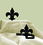 Village Wrought Iron CUR-TB-121 Fleur-de-lis - Curtain Tie Backs