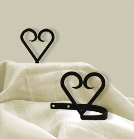 Village Wrought Iron CUR-TB-51 Heart - Curtain Tie Backs, Price/Pair