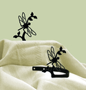 Village Wrought Iron CUR-TB-71 Dragonfly - Curtain Tie Backs