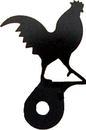 Village Wrought Iron DHK-1 Rooster - Cabinet Door Silhouette
