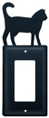 Village Wrought Iron EG-6 Cat - Single GFI Cover