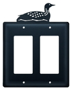 Village Wrought Iron EGG-116 Loon - Double GFI Cover
