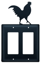 Village Wrought Iron EGG-1 Rooster - Double GFI Cover