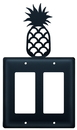 Village Wrought Iron EGG-44 Pineapple - Double GFI Cover