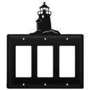 Village Wrought Iron EGGG-10 Lighthouse - Triple GFI Cover
