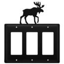Village Wrought Iron EGGG-19 Moose - Triple GFI Cover