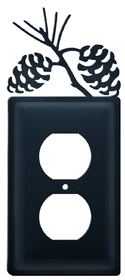 Village Wrought Iron EO-89 Pinecone, Single Outlet Cover, Price/Each