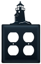 Village Wrought Iron EOO-10 Lighthouse - Double Outlet Cover