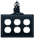Village Wrought Iron EOOO-10 Lighthouse - Triple Outlet Cover