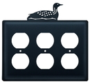Village Wrought Iron EOOO-116 Loon - Triple Outlet Cover