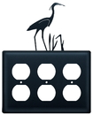 Village Wrought Iron EOOO-133 Heron - Triple Outlet Cover