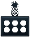 Village Wrought Iron EOOO-44 Pineapple - Triple Outlet Cover