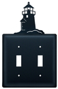 Village Wrought Iron ESS-10 Lighthouse - Double Switch Cover
