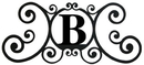 Village Wrought Iron HP-OD-B House Plaque Letter B