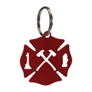 Village Wrought Iron KC-111R Maltese Cross - Key Chain-RED