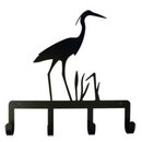Village Wrought Iron KH-133 Blue Heron - Key Holder